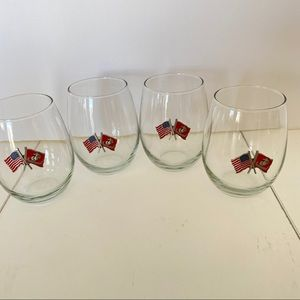 """Other - United States Marines American Flag 4.25"""" Glasses"""